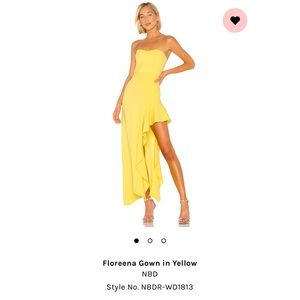 Floreena Gown in Yellow